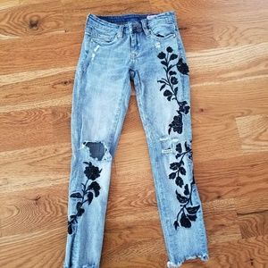 BLANKNYC embroidered jeans